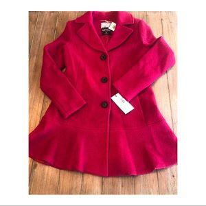 NWT Kensie Thigh Length Button Closure Wool Coat